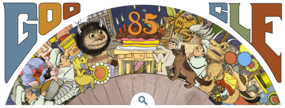 Screenshot of Google Doodle for Maurice Sendak